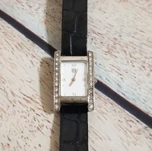 Working Givenchy Silver Crystal Face Watch